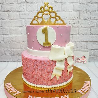 Princess First Birthday Cake - Cake by Simo Bakery