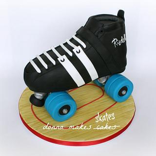 Roller Derby Skate Cake