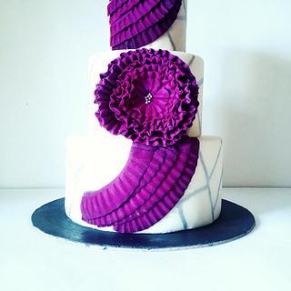 Purple Drama - Cake by Surabhi Maheshwari