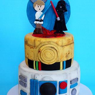 Star Wars Cake: Good vs Evil