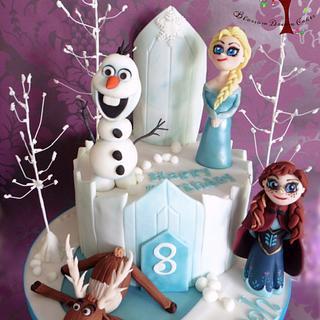 Frozen - Cake by Blossom Dream Cakes - Angela Morris