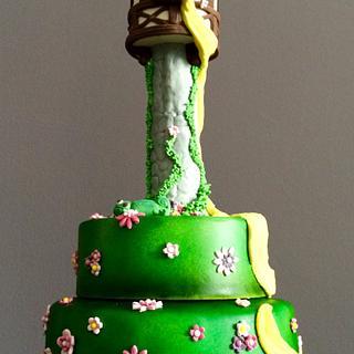 Rapuzel cake