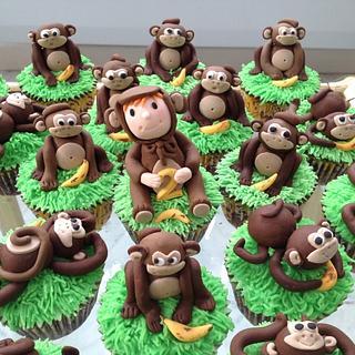 Cheeky Monkey 2nd Birthday cupcakes
