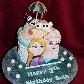Frozen Cake for my daughter
