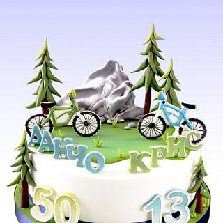 Daddy & Son - Bike Obsession Cake - Cake by MLADMAN