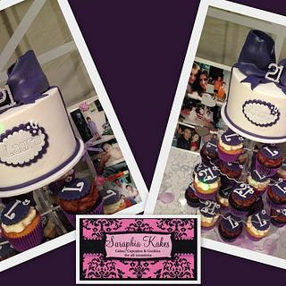 Purple 21st Birthday - Cake by Wendy - Saraphia Kakes