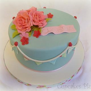 Kath Kidston style birthday cake