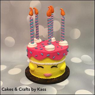 Buttercream Shopkins Cake