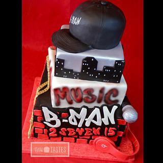 Bman hip hop cake
