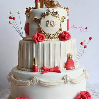glitter and glamour cake