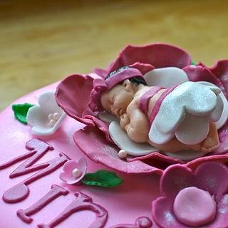 Pink Petal Baby Cake