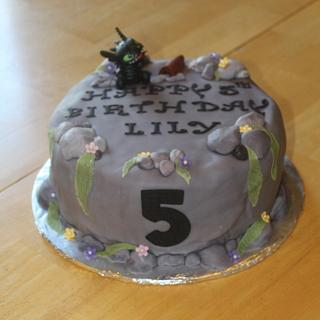 How to Train your Dragon Cliff Cake