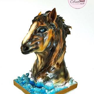 3D Sculpted Horse Cake 🐴🔥