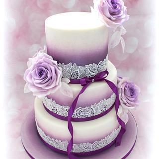 Wedding cake - lilac
