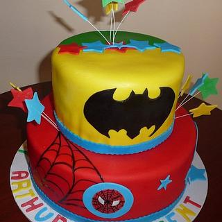 Marvel Comics Birthday Cake