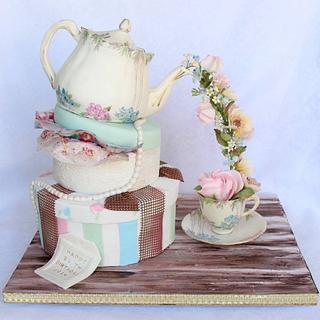 Pouring teapot