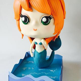 The Little Mermaid cake.
