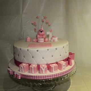Pink Bear cake
