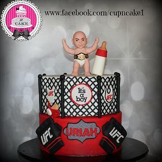 UFC baby shower cake