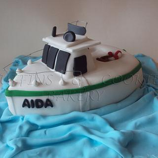 Boat Cake - Cake by Muffins & Cookies Bakery