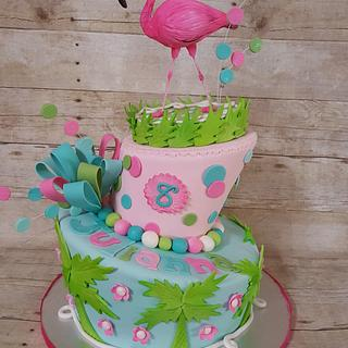 Lilly Pulitzer inspired cake