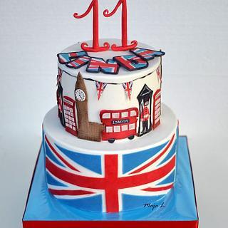 London themed cake