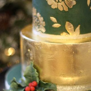 2 tier Gold Leaf Cake - Cake by Zoe's Fancy Cakes