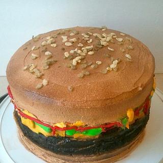 Cheeseburger Cake - Cake by Mimi's Sweet Shoppe Amanda Burgess