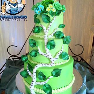 flourishing Green wedcake