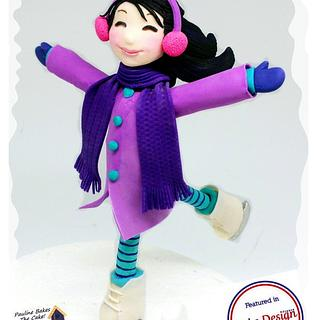 Violet Ice Skater From Frostington!