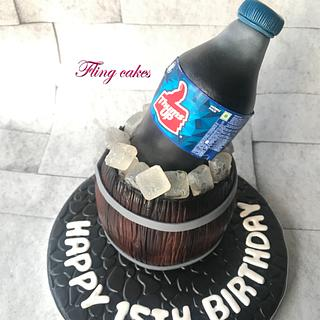 Thums up theme cake