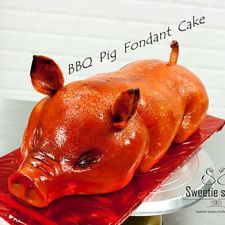 BBQ Pig Fondant Cake - Cake by Phyllis Leung