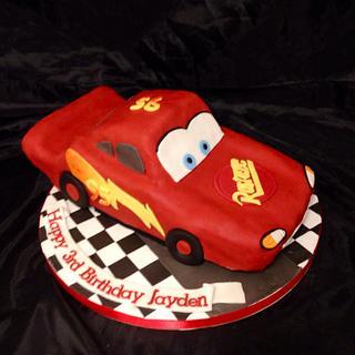 Lightning McQueen - Cake by Caron Eveleigh