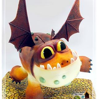 Gravity Defying Structured Cake : How To Train Your Dragon To Do A Handstand!