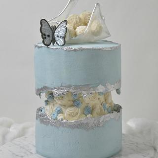 Butterfly Fault line Cake