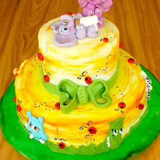 Safari christening cake - Cake by Crisan Monica/Mimi Cake Figurines