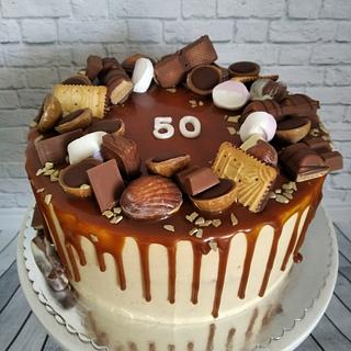 Drip caramell cake