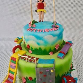 Park theme cake