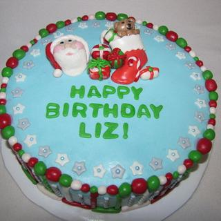 Christmas Birthday - Cake by Tiffany Palmer