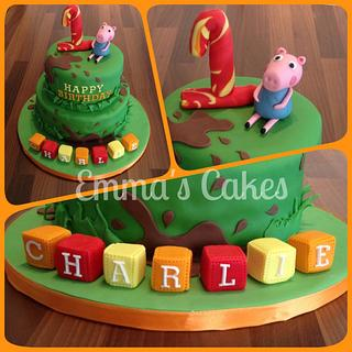 George Pig - Cake by Emma's Cakes - Cakes for all occasions