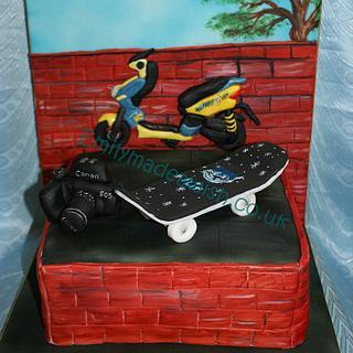 Skateboard Cake