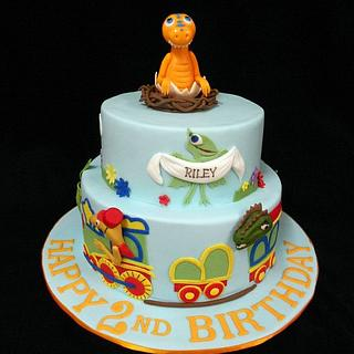Dinosaur Train Cake for Riley