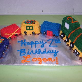 Train Birthday Cake!  - Cake by Lori
