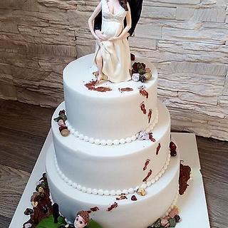 Wedding cake for farmer