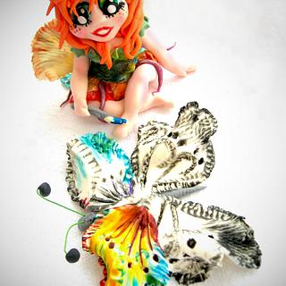 Rainbow Fairy - Cake by Crisan Monica/Mimi Cake Figurines