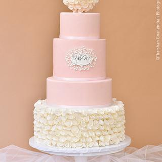 {Romance in Paradise} Wedding Cake