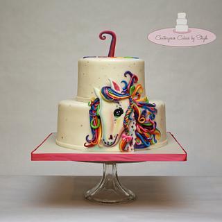 1st Cake After Surgery: Lisa Frank