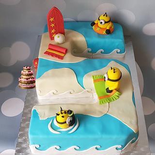 Minions summer cake