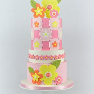 Retro Inspired Cake