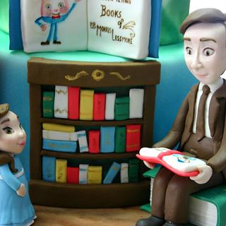 """Read, Write, Think & Dream"" Cake"